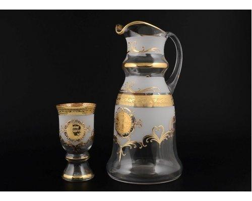 Набор для воды королевский 7 предметов Версаче Богемия B-G фон Богемия Кристал (Bohemia Crystal)