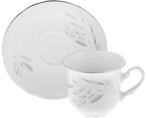 Набор чайных пар 240 мл Тхун (Thun) Констанция Серебряные колосья (6 пар)