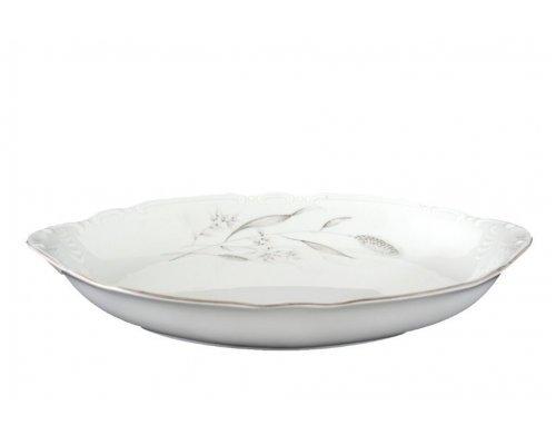 Блюдо для хлеба 33 см Тхун (Thun) Констанция Серебряные колосья