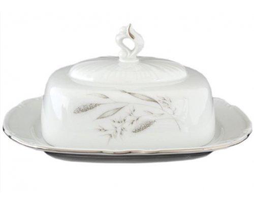 Масленка 16 см Тхун (Thun) Констанция Серебряные колосья