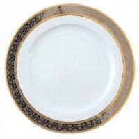 Набор тарелок Опал Широкий кант платина золото Thun 25 см (6 шт)