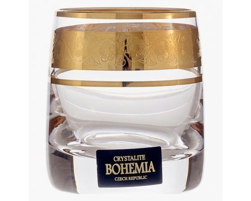 Набор стопок для водки 60 мл Идеал Золото V-D Богемия Кристал (Bohemia Crystal) (6 шт)