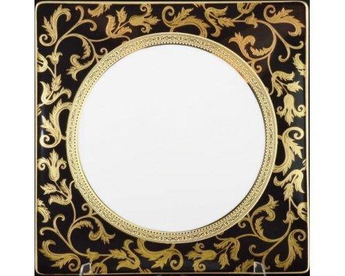 Набор тарелок 27 см Falkenporzellan Tosca Black Gold (6 шт)