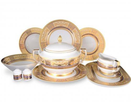 Столовый сервиз на 6 персон 27 предметов Falkenporzellan Diadem Violet Creme Gold