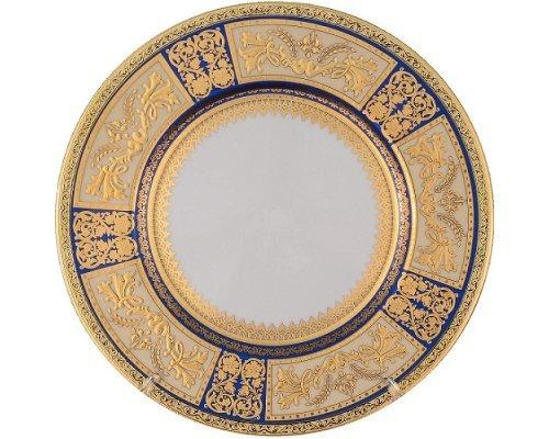 Набор тарелок 27 см Falkenporzellan Diadem Blue Creme Gold (6 шт)