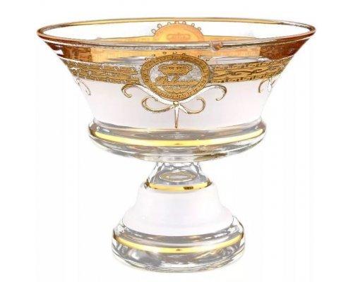Конфетница 16 см Версаче Богемия А-М Богемия Кристал (Bohemia Crystal)