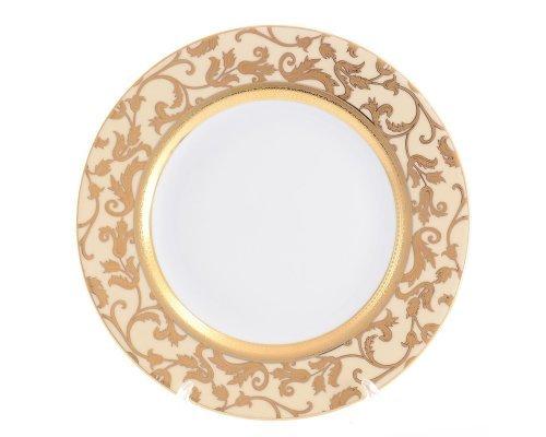 Блюдо круглое 32 см Falkenporzellan Tosca Creme Gold