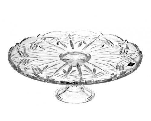 Тарелка для торта 31 см на ножке Taurus Crystalite Bohemia