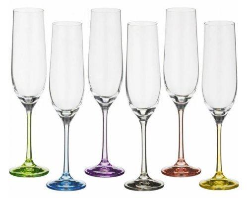 Набор фужеров для шампанского 190 мл Арлекино Богемия Кристал (Bohemia Crystal) (6 шт)