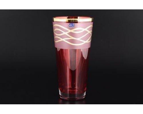 Ваза Богемия Кристал (Bohemia Crystal) 25 см красная