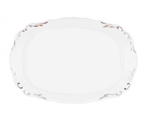 Блюдо прямоугольное 21 см Платиновый узор Корона Queens Crown