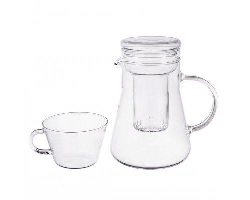 Чайный сервиз 5 предметов Симакс (Simax) жаропрочная