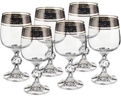 Набор бокалов для вина 230 мл Клаудия Панто V-D Bohemia Crystal (6 шт)