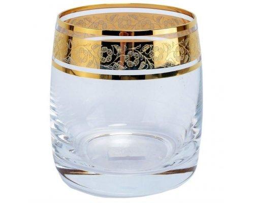 Набор стаканов для виски 230 мл Идеал Золото V-D Богемия Кристал (Bohemia Crystal) (6 шт)