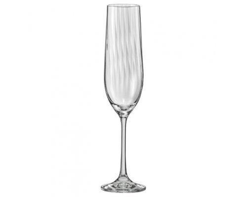 Набор фужеров для шампанского 190 мл 6 шт Waterfall Crystalite Bohemia