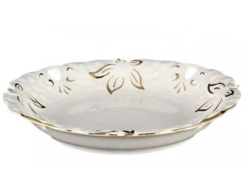 Блюдо круглое 30 см Золотая полоса Корона Queens Crown