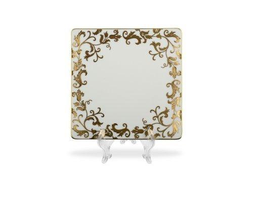 Набор тарелок 21 см квадратные Falkenporzellan Tosca Black Gold (6 шт)