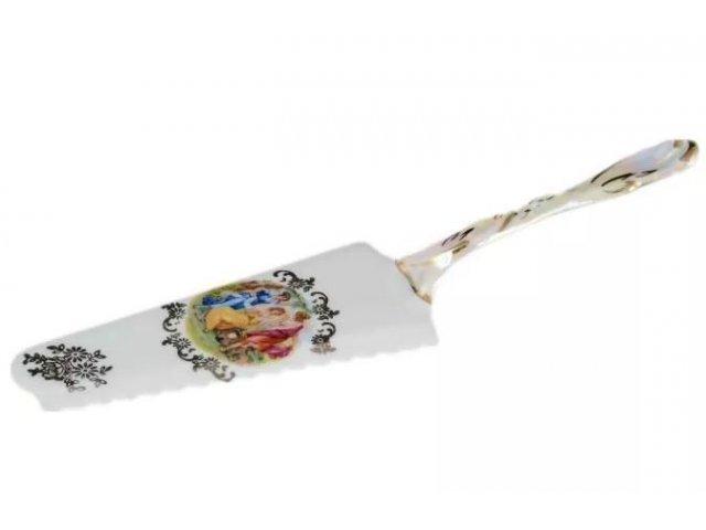 Лопатка для торта 24 см Мадонна перламутр Корона Queens Crown 23326