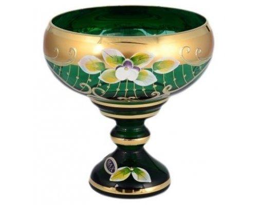 Конфетница 13 см Лепка зеленая Star Crystal 23680