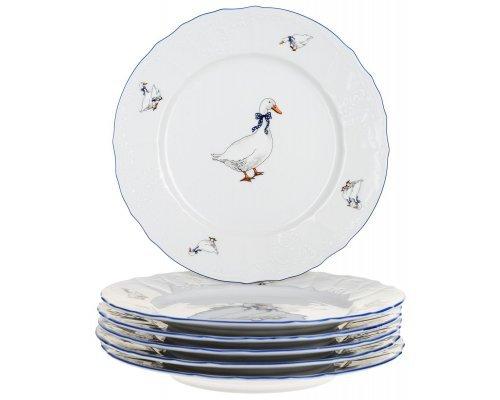 Набор тарелок 17 см Бернадотт Гуси (6 шт)