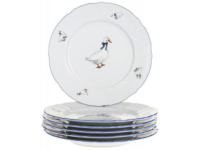 Набор тарелок 25 см Бернадотт Гуси (6 шт)