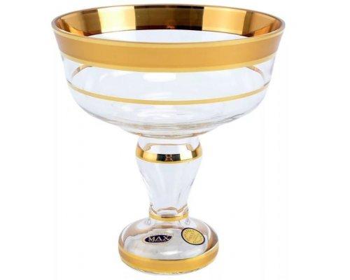 Конфетница 13 см Star Crystal Отводка золото