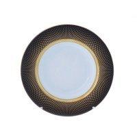 Набор глубоких тарелок 23 см Falkenporzellan Rio black gold (6 шт)