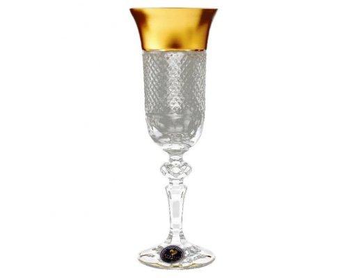 Набор фужеров для шампанского 150 мл Crystal heart Bohemia (Богемия) (6 шт)