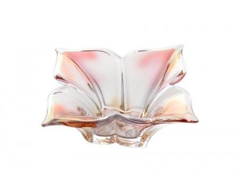 Салатник 20 см розовый Florale Crystalite Bohemia