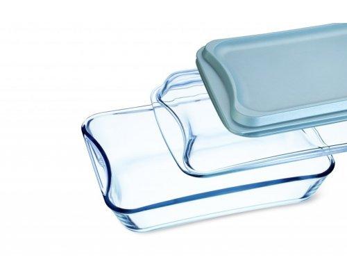 Блюдо для запекания Simax 2,5 л с 2-я крышками (стекло и пластик)