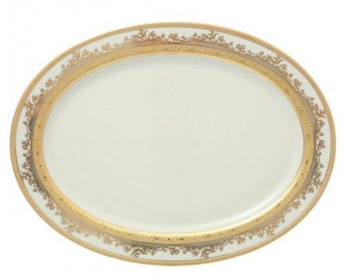Блюдо овальное 35 см Falkenporzellan Cream Gold 9320