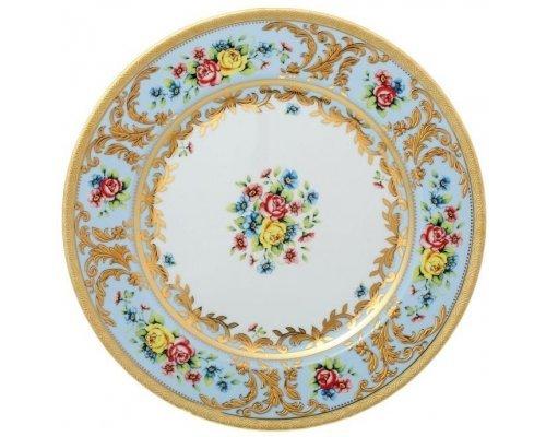 Блюдо круглое 32 см Vienna blu gold Falkenporzellan (Фалкенпоцеллан)