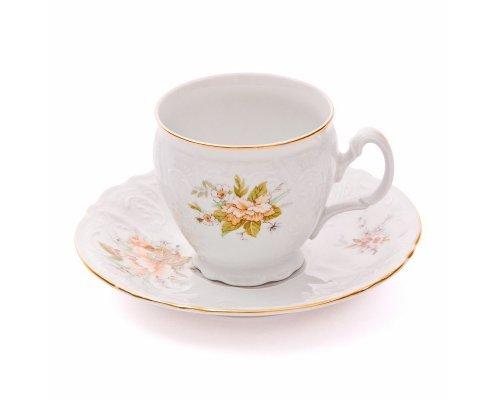 Набор чайных пар бочка Зеленый цветок Bernadotte 240 мл (6 пар)