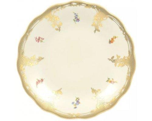 Блюдо круглое 30 см Аляска Мелкие цветы Слоновая кость Carlsbad