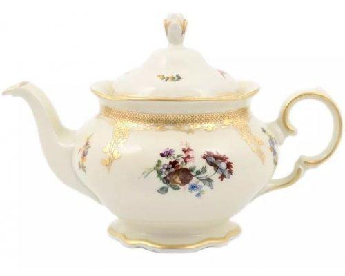 Чайник заварочный Аляска Мелкие цветы Слоновая кость Carlsbad 1,2 л