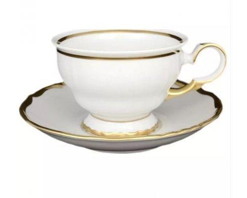 Набор чайных пар 250 мл Анжелика Отводка золото Старорольский Фарфор (MZ) (6 пар)