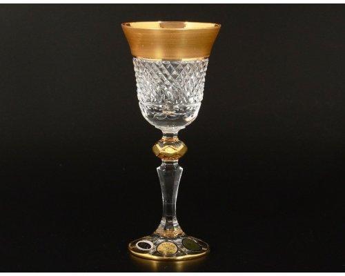 Набор рюмок для водки 60 мл Max Crystal Золото Bohemia (Богемия) Филиция (6 шт)