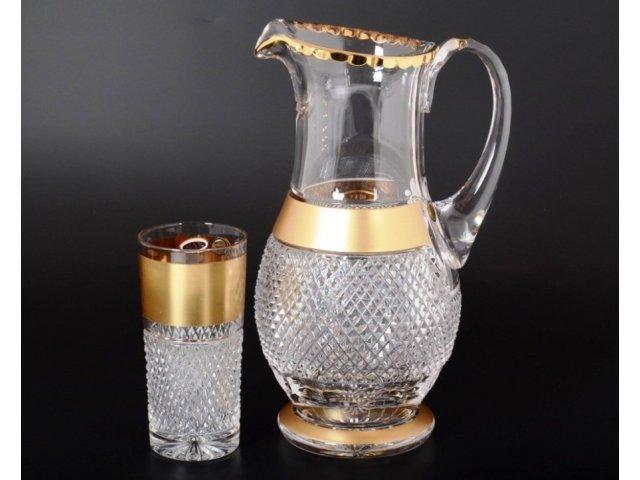 Набор для воды 7 предметов Max Crystal Золото Bohemia (Богемия) Филиция