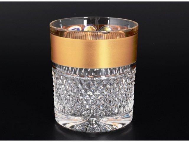 Набор стаканов для воды 320 мл Max Crystal Золото Bohemia (Богемия) (6 шт.)