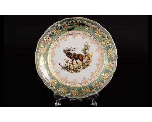 Набор тарелок 21 см Офелия (6 шт) Зеленая охота Moravec