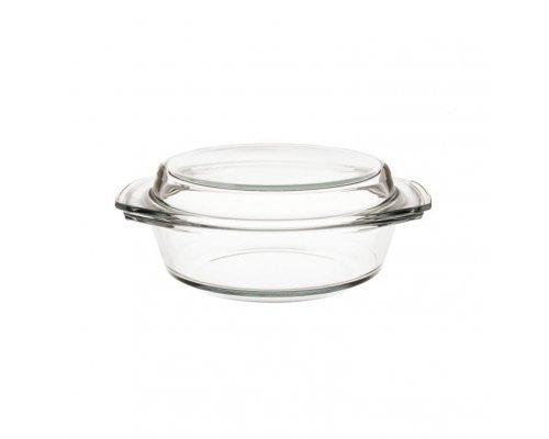 Блюдо для запекания стеклянное с крышкой 1.5 л Simax 12059