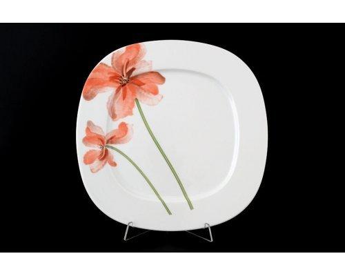 Набор тарелок 27 см Тхун (Thun) Леон Красные маки (6 шт)