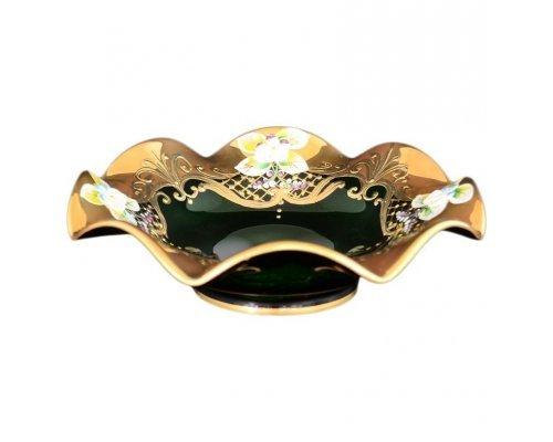 Фруктовница 16 см Bohemia (Богемия) Лепка Зеленая E-V