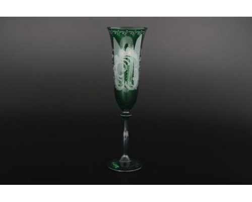 Набор фужеров для шампанского 190 мл Зеленый E-V Богемия Кристал (Bohemia Crystal)