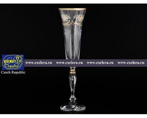 Набор фужеров для шампанского 180 мл Виктория Богемия Кристал (Bohemia Crystal) (6 шт)