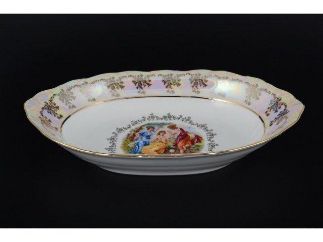 Блюдо для хлеба 32 см Мадонна Перламутр Royal Czech Porcelain