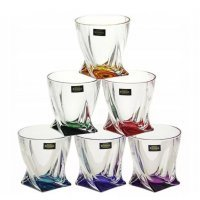 Набор стопок для водки 55 мл Quadro Богемия Кристал (Bohemia Crystal) Ассорти (6 шт)