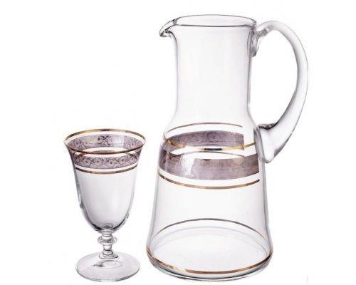 Набор для воды 7 предметов Клаудия Панто V-D Богемия Кристал (Bohemia Crystal)