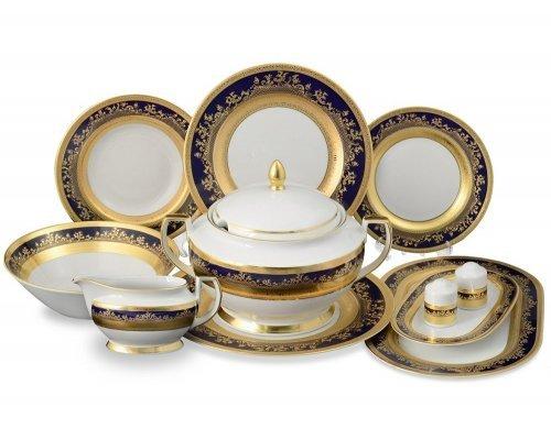 Столовый сервиз на 6 персон 27 предметов Constanza Falkenporzellan Cobalt Gold 9320
