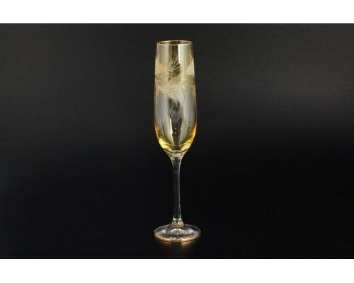 Набор фужеров для шампанского Оранжевый E-V Богемия Кристал (Bohemia Crystal) 190 мл